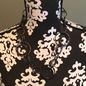 Funky multi silver circular necklace